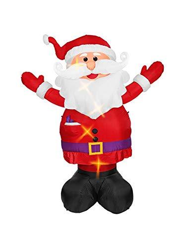 Widmann 75033 Dekoration aufblasbarer leuchtender Santa Claus, ()