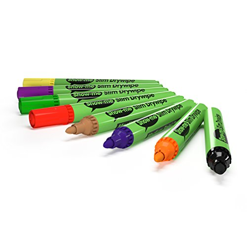 Show-me Assorted Drywipe Pens, Medium Tip, 10