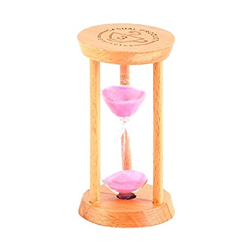TiTa-Dong Sandglass Hourglass Clock 5 Minutes Wooden Sand Clock Home Decor Kitchen Timer