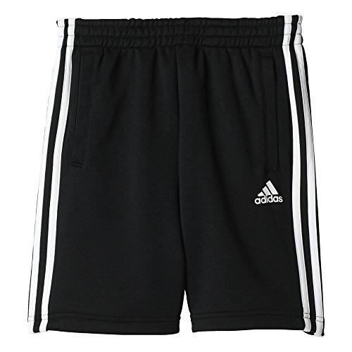 adidas Jungen 3-Stripes Knit Shorts, Black, 176