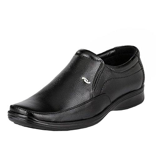 Leatherkraft Men'S Black Genuine Leather Formal Slipon Shoe (6) (LKU1401BK6)