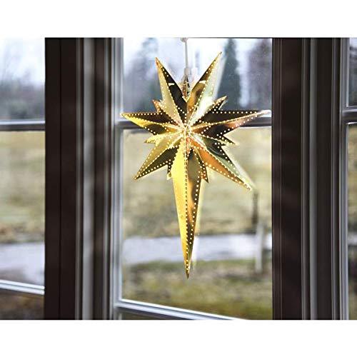Kamaca Magisch leuchtender STERN Fensterbeleuchtung aus Messing Größe 35 x 25 (gold)