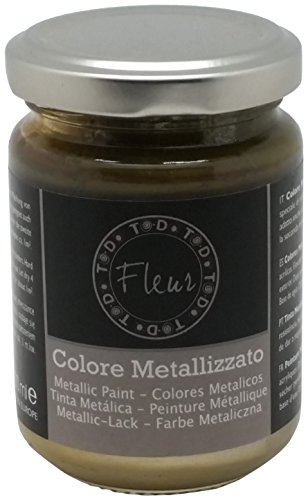 Fleur Paint 12502 - Pintura mineral metalizada (base agua, 130 ml) col