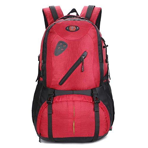 LF&F Backpack 30-40L Capacità Peso Leggero Viaggio Escursioni Camping Outdoor Rucksack Daypack Sacchetto Bagagli Zaino Equitazione Sport Unisex Ogni Giorno Uso Borsa Scolastica Universitaria E 30-40L E
