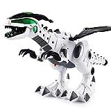 Kisshes Robot da Dinosauro a spruzzo Elettrico per Bambini Giocattoli Interazione Gioco elettronico Dinosauro Meccanico Giocattolo con Effetto Luce