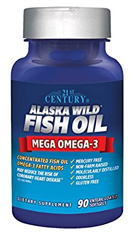 21st Century Health Care, Alaska Wild Fish Oil, 90 Kapseln magensaftresistent