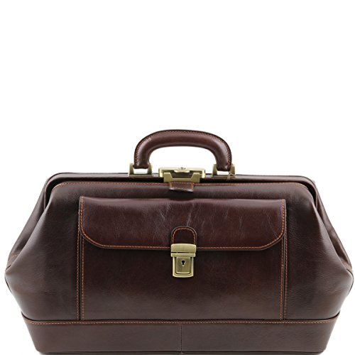 Tuscany Leather - Bernini - Esclusiva borsa medico in pelle Testa di Moro - TL141298/5