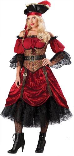 Generique - Deluxe Piraten Kostüm für Damen S (Kostüm Damen Piraten Deluxe)