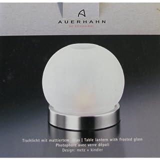 Auerhahn A-Design Tischlicht mit Glas weiss Edelstahl 18-10 matt in Geschenkverpackung