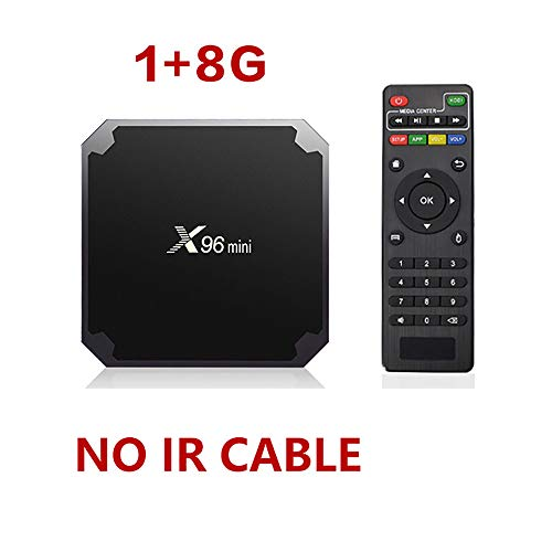 Zach-8 Android tv Box, x96 Mini Android tv Box Set-top Box android7.1 tv Box s905w 5 w 2g 16g Quad-core tv Box iptv Media Player,1G+8G -