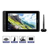 HUION KAMVAS PRO 12 11.6 Zoll Grafiktablett-Monitor batterieloses Stift-Display mit Neigungsfunktion 120% sRGB Vollkaschierte blendfreie Glasscheibe