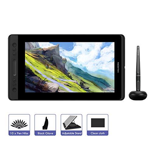 HUION KAMVAS PRO 12 11.6 Zoll Grafiktablett-Monitor batterieloses Stift-Display mit Neigungsfunktion 120{4a037c529af5b876fedd7e5a900dd740bf503cfcb81a4f8d13618d7f4df6f4fb} sRGB Vollkaschierte blendfreie Glasscheibe (GT-116)