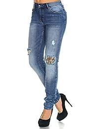 Itaimaska Damen Übergrößen Jeans Hose Stretch Zerrissene 21323
