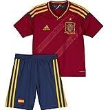 adidas - X16697 - Equipación Fútbol Selección Española Niño - Color : Rojo y Azul - Talla : 176 Cm