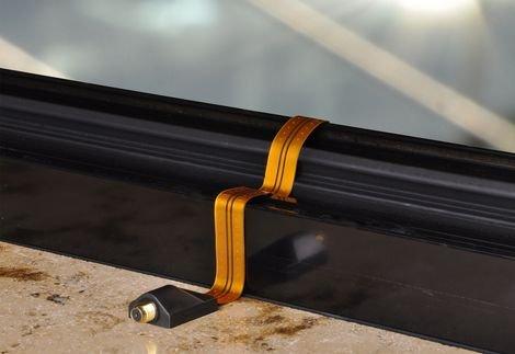 4 Stück - DUR-line 1710-G Fensterdurchführung, Sat Kabel Flachkabel, hauchdünne, hochwertige Ausführung mit F-Buchsen Gold