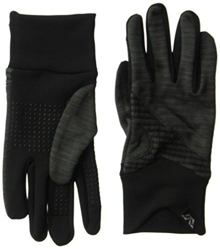 Gordini Melange Manschette Handschuh, damen, schwarz (Handschuh Gordini-schwarz)