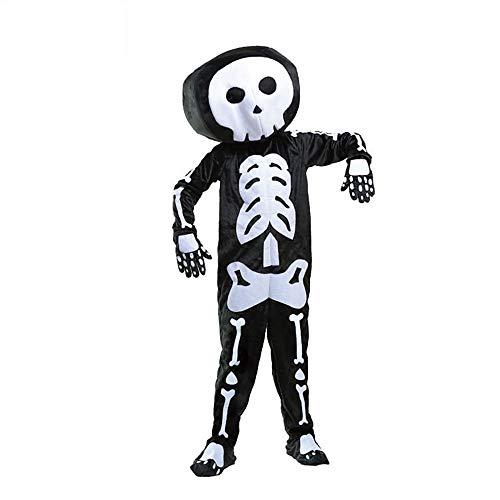 Space Weibliche Kostüm - Halloween-Kostüm-Skelett/Schädel-Cosplay Kühles Karnevals-Maskerade-Festival Der Jungen Des Kindes/Feiertag Terylene Schwarze Weibliche Karnevals-Kostüme,Black-XL