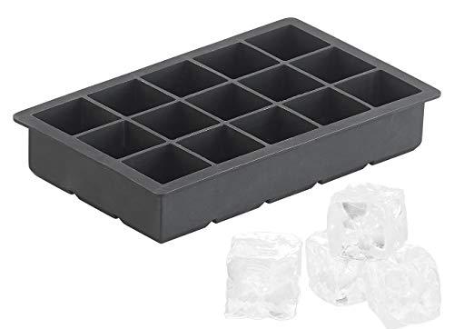 PEARL Eiswürfel-Form: Silikon-Eiswürfelform für 15 XL-Eiswürfel à je 3 x 3 x 3 cm, 500 ml (XXXL-Eiswürfelform) -
