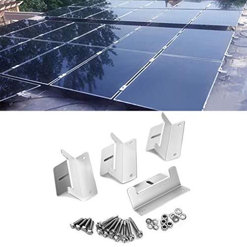 UK ZUIMEI Set von 4 Solarpaneelen, Z-Form, Aluminiumhalterungen, Muttern und Unterlegscheiben für die Montage von Solarmodulen auf Wohnmobilen, Wohnmobilen, Booten, Dächern