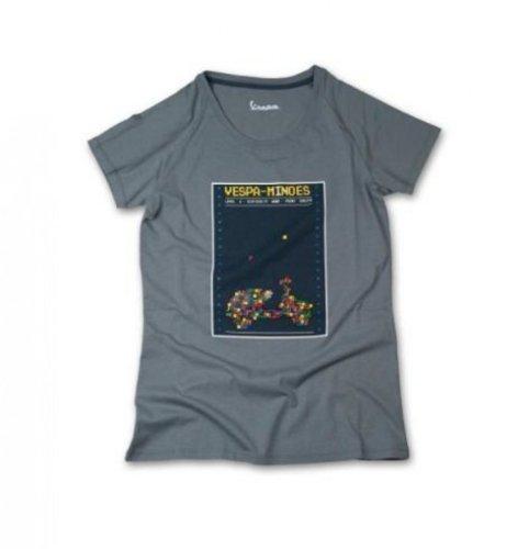 Original Vespa Damen T-Shirt Minoes grau Kollektion 2013, Größen:XL - 2013 Neu Baumwolle