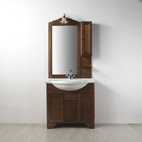 Mobile arredo bagno in arte povera da 85 cm con pensile lavanda