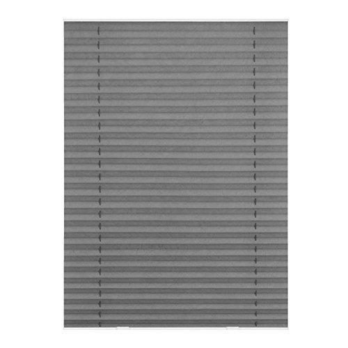 Lichtblick Dachfenster-Plissee Haftfix, 95,3 x 122 cm (B x L) in Grau, Sicht- & Sonnenschutz-Rollo ohne Bohren, Jalousie mit Saugnäpfen, für (Dachflächen-) Fenster, Velux-kompatibel (S08/SK08)
