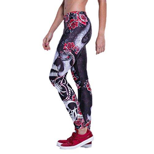 Homebaby Cranio Sport Leggings Sportivi Donna Pantaloni Tagliati Eleganti Leggings Yoga Opaco Fitness Spandex Palestra Pantaloni Leggins Push Up