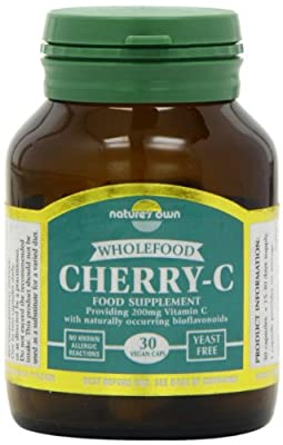 Natures Own 200mg Cherry C Wholefood Vitamin C 30 Capsules from Natures Own