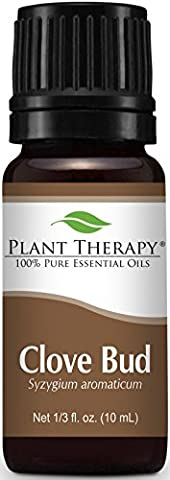 Clove Bud Essential Oil. 10 ml. 100% Pure, Undiluted, Therapeutic Grade. by Plant Therapy Essential Oils