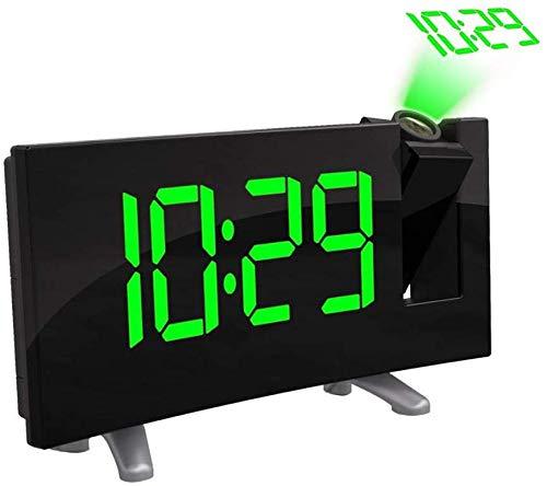GUOOK Moderne projektionswecker led-anzeige digitaler projektionswecker fm Radio doppel wecker mit USB Lade elektronische Uhr