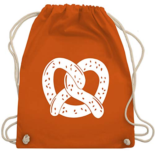 Oktoberfest Beutel - Oktoberfest Brezel - Unisize - Orange - WM110 - Turnbeutel & Gym Bag
