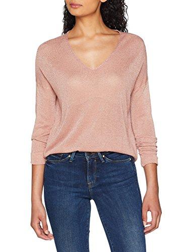 ONLY NOS Damen Onlpisa L/S V-Neck Pullover Knt Noos, Grau (Misty Rose Detail: W. Dtm Metalic Fibers), 42 (Herstellergröße: XL)