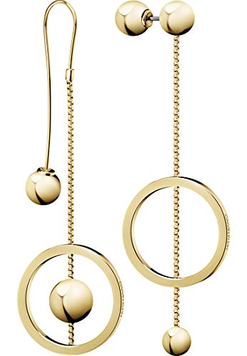 Calvin Klein Damen-Ohrhänger Unpaired Edelstahl One Size Gold 32010023
