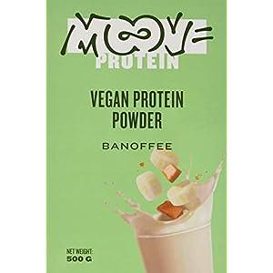 41f7lBeqsML. SS300 Moove Protein - Polvere proteica vegana di riso e piselli - Aroma di banana e caffè (aroma di banana e caramello) - 500…