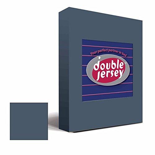 Double Jersey - Spannbettlaken 100% Baumwolle Jersey-Stretch bettlaken, Ultra Weich und Bügelfrei mit bis zu 30cm Stehghöhe, 160x200x30 Anthrazit - 2