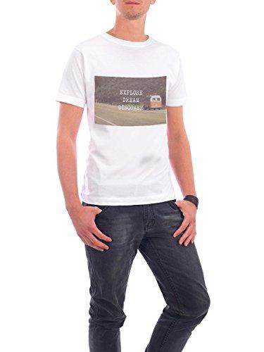 """Design T-Shirt Männer Continental Cotton """"Discover"""" - stylisches Shirt Typografie Reise von Christina Beckmann Weiß"""