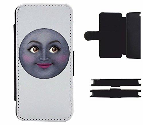 """Leder Flip Case Apple IPhone 6 plus/ 6S plus """"Mondgesicht von Emojis Vertrauensvoll lebendig """", der wohl schönste Smartphone Schutz aller Zeiten."""