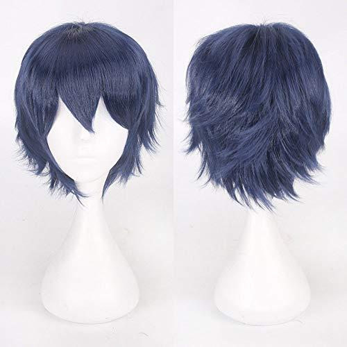 (TianWlio Perücken DamenMulti Color Short Glattes Haar Perücke Anime Party Cosplay Volle Verkauf Perücken 35cm)