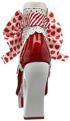 Irregular Choice Damen Rosie with Love Pumps Rot