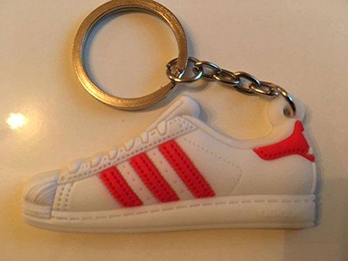 Preisvergleich Produktbild Adidas Superstar Schlüsselanhänger Rot Sneaker Keychain Red