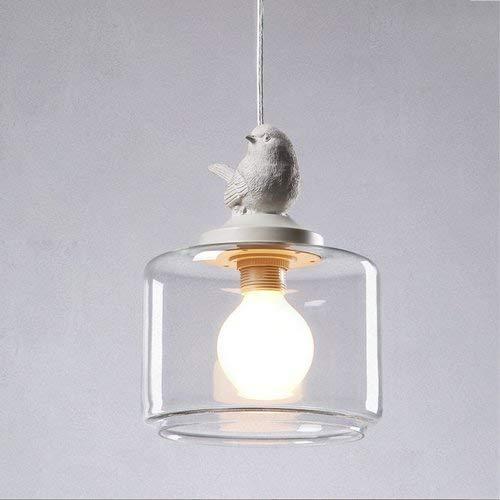 BGTRRYHY Pájaro Luces Colgantes Luces Colgantes nórdicas Creativas de Vidrio Sala de...