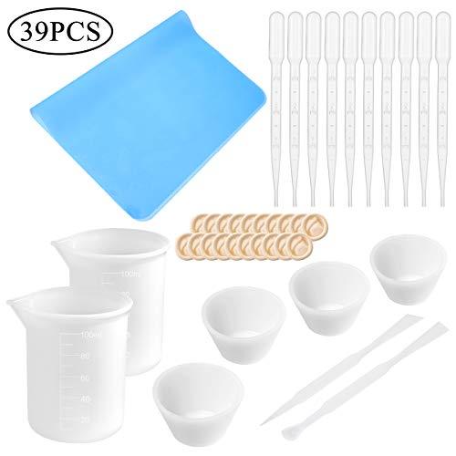 100 ml Vasos Medidores Silicona Resina Incluye Dedos