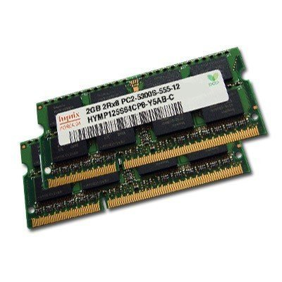 4GB Dual Channel Kit HYNIX original 2 x 2048MB 200 pin DDR2-667 (PC2-5300) SO-DIMM double side für DDR2 NOTEBOOKs (5300 667mhz Ddr2 Dual Channel)
