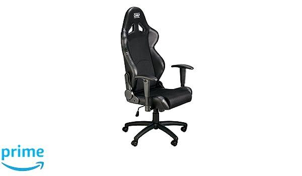 Omp B/ürostuhl mit Armlehne Airnet Fabric Schwarz Gaming Stuhl Schreibtischstuhl Chefsessel Racingstuhl Gaming