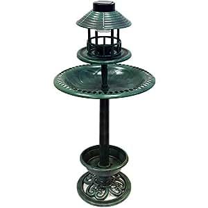 Fontaine/abreuvoir d'extérieur pour oiseaux - 110 cm - lumière solaire LED - n° d'art. 29177.