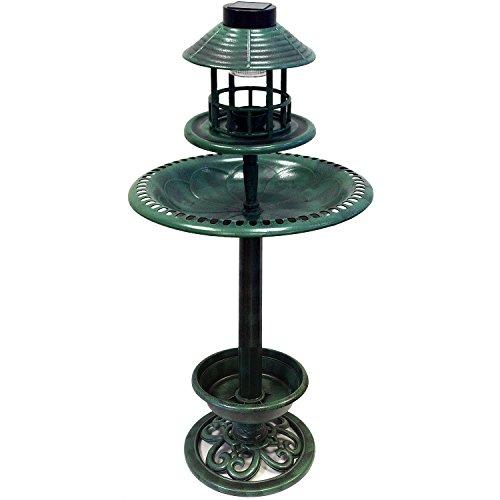 110cm Outdoor Vogel Brunnen Tränke hotel solar licht LED ArtNr. 29177 -