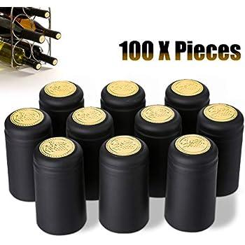Schrumpfkapseln in dunkelrot Kapseln für Weinkorken 100 Stück Wein selber machen