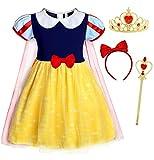 AmzBarley Disfraz Vestido Princesa Blancanieves Elsa Frozen Niña Tutu...