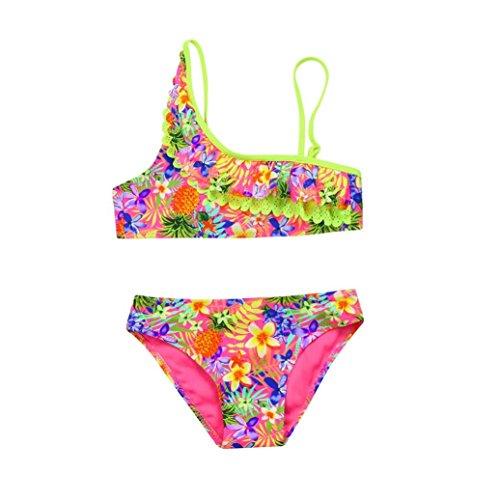 Bikini Bebe Niña K-youth® Venta caliente 2018 Barato Verano Niña Natación Conjunto de Bikini Niñas Traje de Baño Bebe Niña Bañador Niña Ropa de baño para niña 1-5 Años (Rosa caliente, 3-4 años)