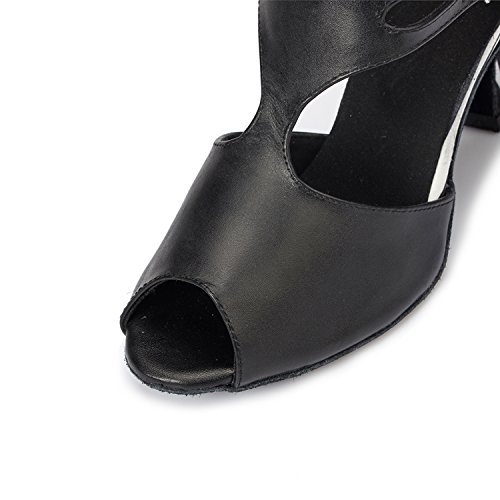 Minitoo en cuir pour femme Motif léopard Mariage Soirée danse-Chaussures Sandales moderne latine Blanc